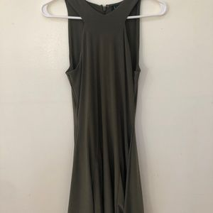 Ralph Lauren Olive Green Short Double Lined Dress